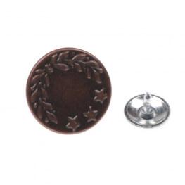 Bouton pression célibataire bronze 17mm