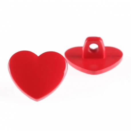 Bouton Petit Coeur en plastique