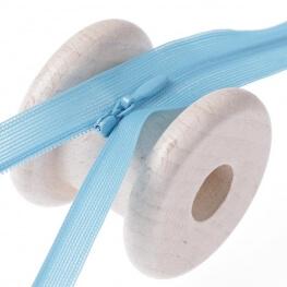 Fermeture à glissière invisible - Bleu
