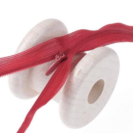 Fermeture à glissière invisible - Rouge bordeaux