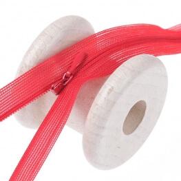Fermeture à glissière invisible - Rouge