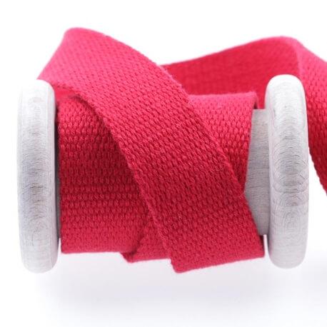 Ruban sangle coton au mètre - Rouge