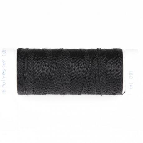 Fil polyester 100m noir n°001