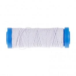 Fil élastique fin 20m blanc
