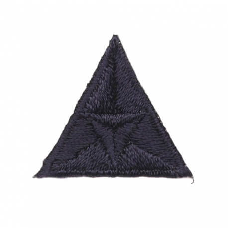 Ecusson mouche triangle - Bleu marine
