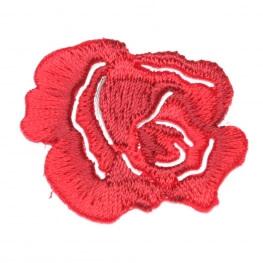 Ecusson fleur rosier - Rouge