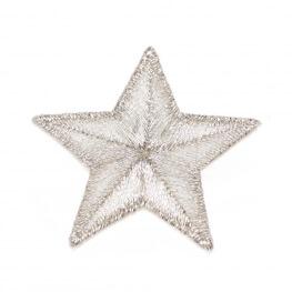 Ecusson étoile brillante - Argent