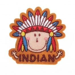 Ecusson indien plume