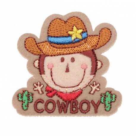 Ecusson cowboy chapeau
