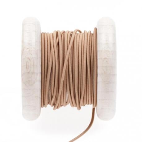 Elastique rond chapeau marron 1 mm au mètre