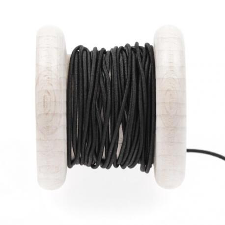 Elastique rond chapeau noir 1 mm au mètre