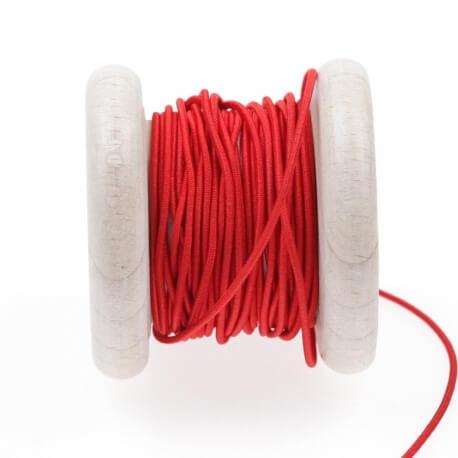 Elastique rond chapeau rouge 1 mm au mètre